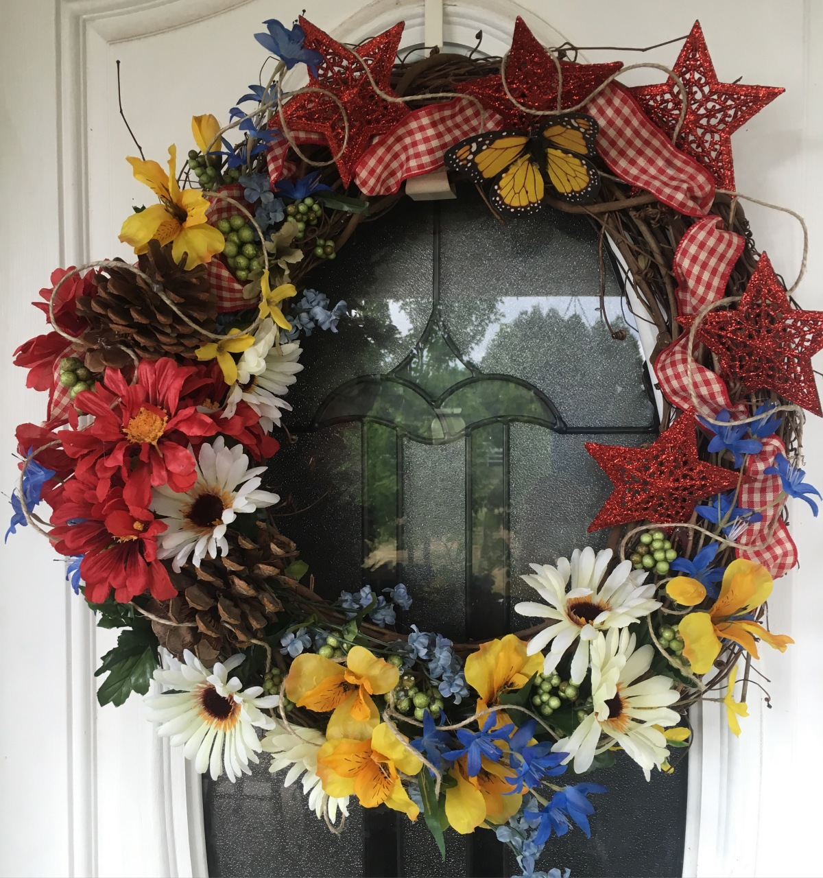 It's not Summer without a Pretty Wreath on theDoor!